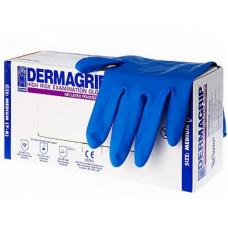Перчатки латекс HIGH RISK Дермагрип М/10упх50шт/(10) голубые