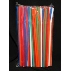 Трубочки c гофр. цветные 5*210