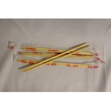 Палочки для еды в индивидуальной упаковке 23см круглые (30упх100шт) Феста