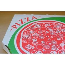 Коробка под пиццу гофро 35*35 белая с печатью 50шт*уп