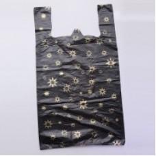 Пакет-майка ПНД 36х14х60 Звезда черная 13мк