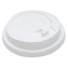 Крышка 80 мм д/гор напитков с отр. питейником белая TLS-80