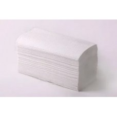 Полотенца бумажные V-укл. белые 1-сл.