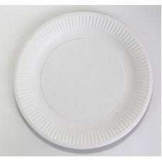 Тарелка 230мм ДоЭко бум.белая, мелован. Картон 50шт/пач (1000шт/кор)