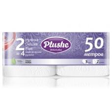 Туалетная бумага 3сл. Plushe Deluxe Plus 2рул*25м