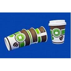 Бумажный стакан Виридо 250мл диам.80мм Кофе/Чай (20уп*50шт) 1000