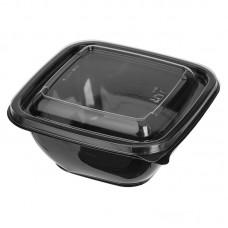 Миска для супа черн. 126*126 500мл СТ + Крышка