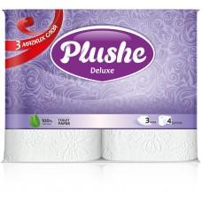 Туалетная бумага 3сл. Plushe Deluxe 4рул*20м бел.