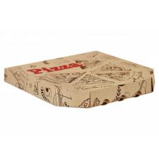 Коробка под пиццу гофро 33*33 бурая с печатью 100шт*уп