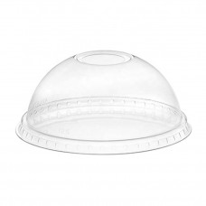 Крышка прозрачная купольная pet с отвестием д.95 (16уп*50шт.) (800)