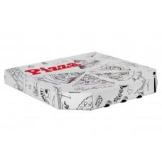 Коробка под пиццу гофро 33*33 белая с печатью 100шт*уп