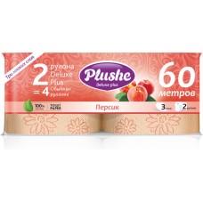Туалетная бумага Plushe Deluxe Plus, 2рул 30м