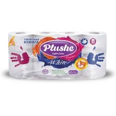 Туалетная бумага Plushe Light Color, 8 рул, 2сл. 15м