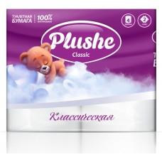 Туалетная бумага Plushe Classic 4рул/пач, 18м,2-сл.
