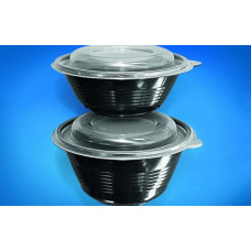 Миска для супа+ крышка К-144-500, черный, (50шт/сп) 300*кор