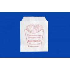 Пакет бумажный, жиростойкий 170х120 для фри, 100шт