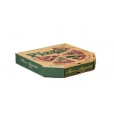 Коробка под пиццу 25*25 бурая с печатью 100/уп