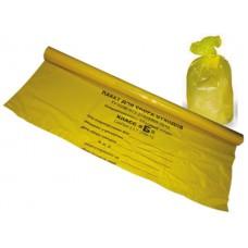 Пакет ПНД 60см х 100см для мед. отходов желтый Б