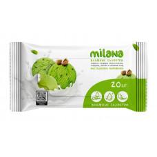 136032 GraSS Салфетки влажные антибактериальные Milana фисташковое мороженое 20шт./пач (72пач/кор)
